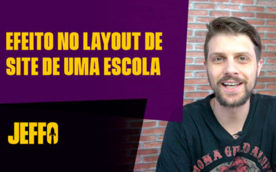 Efeito no layout de site de uma escola [Tutorial Divi Builder – WordPress]